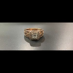 Jewelry - Double halo double banded wedding/engagement set
